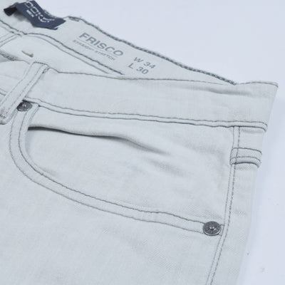 Stooker Straight Fit Stretch Denim For Men-Grey Faded-NA8876