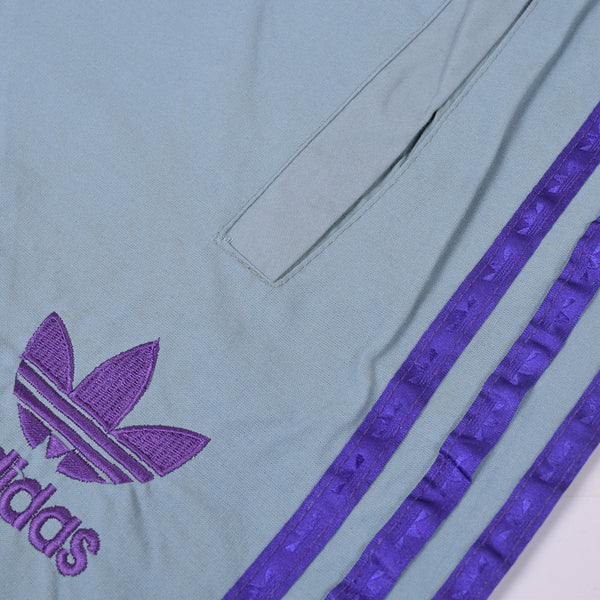 Adidas Cotton Trouser For Men-Bond Blue With Blue Purple Stripes-BE2242