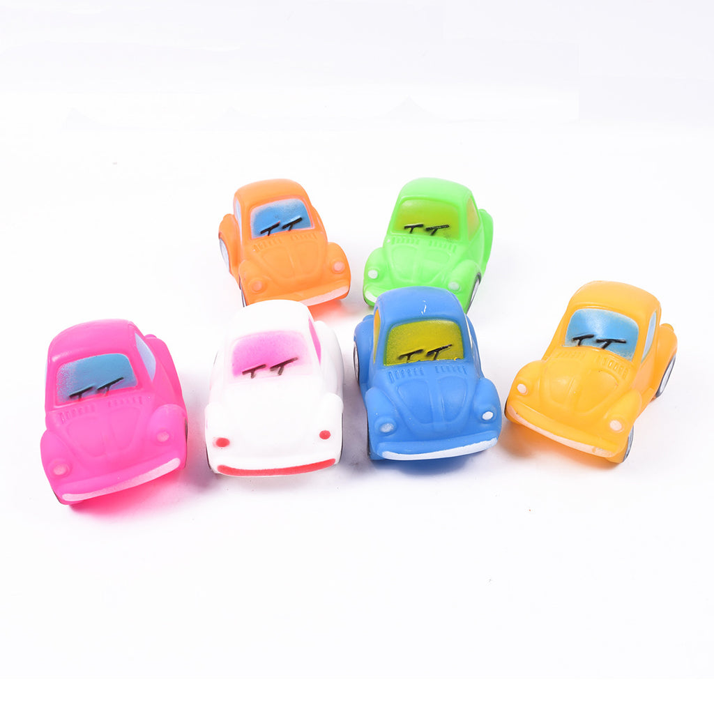 Pack of 6 Whistling Rubber Cars - TA040