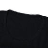 Next Crew Lace Neck Long Sleeve Tee Shirt For Ladies-Black-BE11725