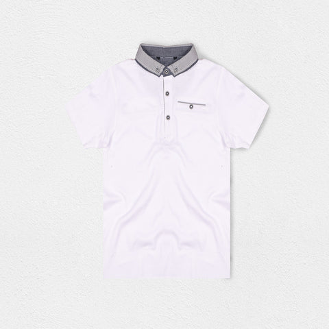 Next Polo Shirt for Kids-White-BE2064
