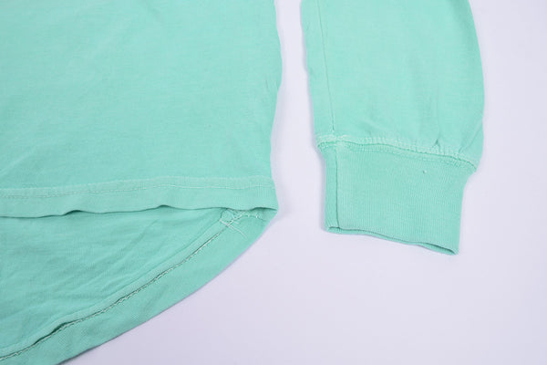 "Ladie's ""U.S Vintage"" Stylish V Neck Blouse-Cyan Green-BE267"