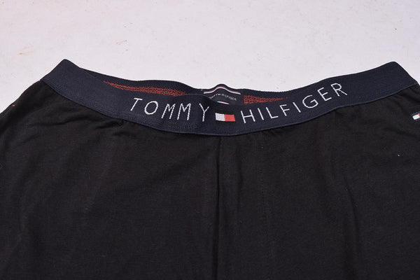 "Pack of 2 Men's "" Tommy Hillfiger"" Singal Jersy Trousers-Navy & Black-THT02"