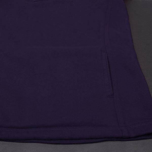 "Exclusive Ladie's Cut Label ""Fat Face"" Zipper Mockneck-Purple-(SS115)"