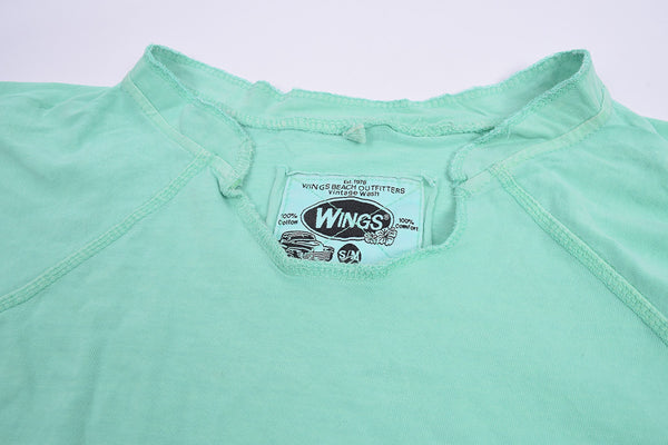 "Ladie's ""Wings"" Stylish Top-Cyan Green-BE268"