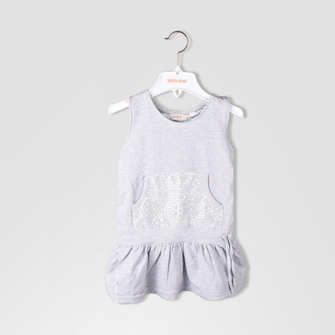 "Kid's ""KIDKIND"" Stylish Frock Gray-BE670"