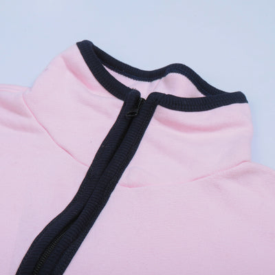 A&F Terry Fleece Full Zipper Mock Neck Jacket For Men-Light Pink-BE7547