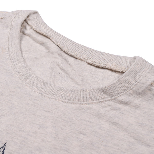 Fat Face Half Sleeve Crew Neck T Shirt For Men-Gray Melange- BE1093