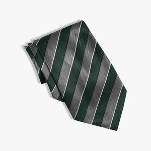 Stripe Silk Tie For Kids-NA1024