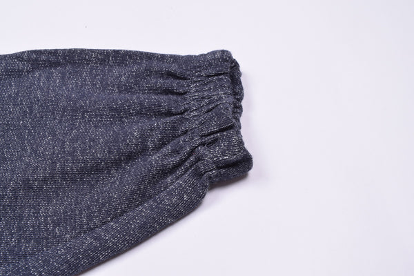 "Kid's Cut Label ""Next"" Blue Melange Terry Fleece Close Bottom Trouser-KT06"
