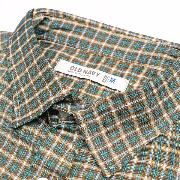Old Navy Exclusive Casual Shirt-Green Check-ONCS11