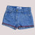 brandsego - Love Denim Short For Girls-Blue With Dirty Wash-SP526