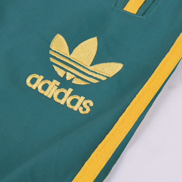 Adidas Cotton Trouser For Men-Light Spring Green With Yellow Stripes-BE2374