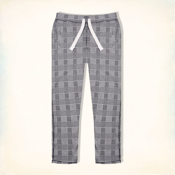 "Men's ""Tom Tailor"" Stylish White & Gray Check Regular Fit Stretch Trouser-TTT22"
