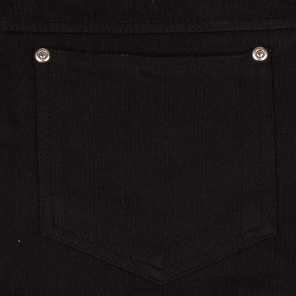 "Ladies ""Thrilll"" Plain Belted Shorts- Black (216)"