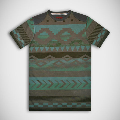 Men's Fat Face Cut Label Crew Neck Tee Shirt-All Over Print-FF012