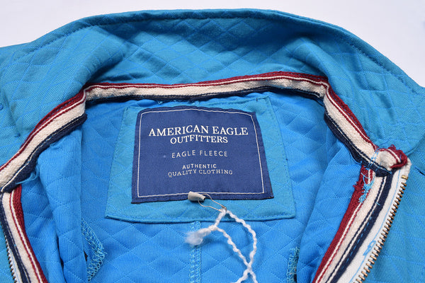 "Men's ""American Eagle"" Full Fashion Zipper Quilting Stylish Jacket- Ferozi Zipper Style-AEZJ26"