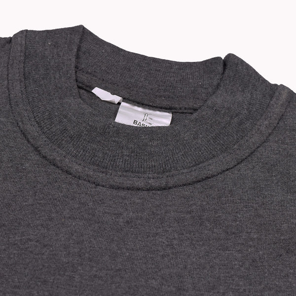 Basic Crew Neck T Shirt For Kids -Charcoal-BE999