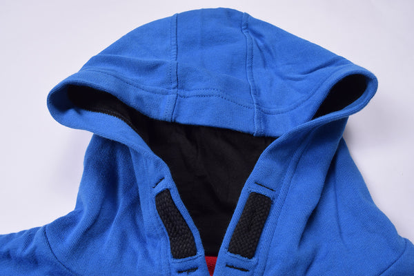 "Men's Cut Label ""Next"" Pullover Hoodie-Blue-MO579"