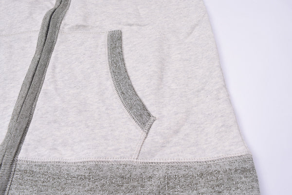 "Kids Cut Label ""Super Premium"" Zipper Hoodie-Gray-KTS07"