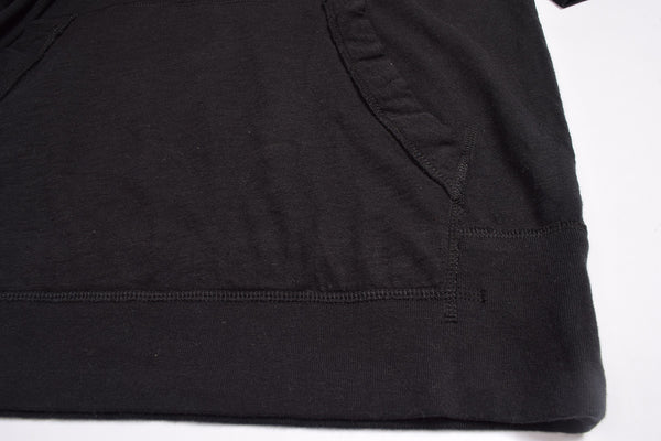 "Men's Cut Label ""Next"" Henley Hoodie-Black-M07701"