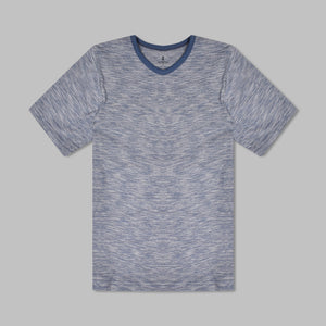 ChenOne Half Sleeve Single Jersey T Shirt For Boys-Blue Melange-NA1248