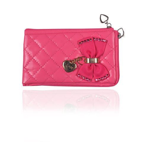 Ladies Wallet & Mobile Pouch-Dark Pink-LP04