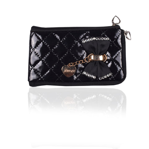 Ladies Wallet & Mobile Pouch-Black-LP02