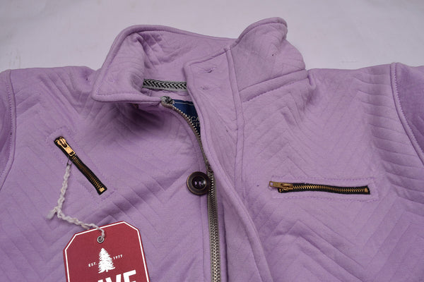 "Men's ""American Eagle"" Full Fashion Zipper Quilting Stylish Jacket- Dark Orchid Zipper Style-AEZJ41"