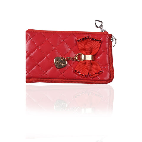 Ladies Wallet & Mobile Pouch-Red-LP03