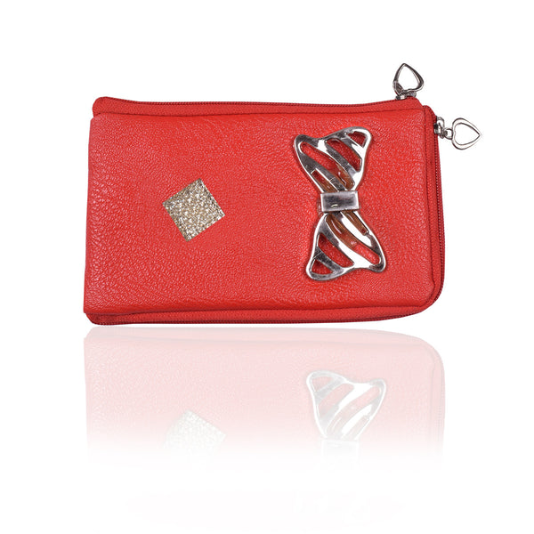 Ladies Wallet & Mobile Pouch-Red-LP09