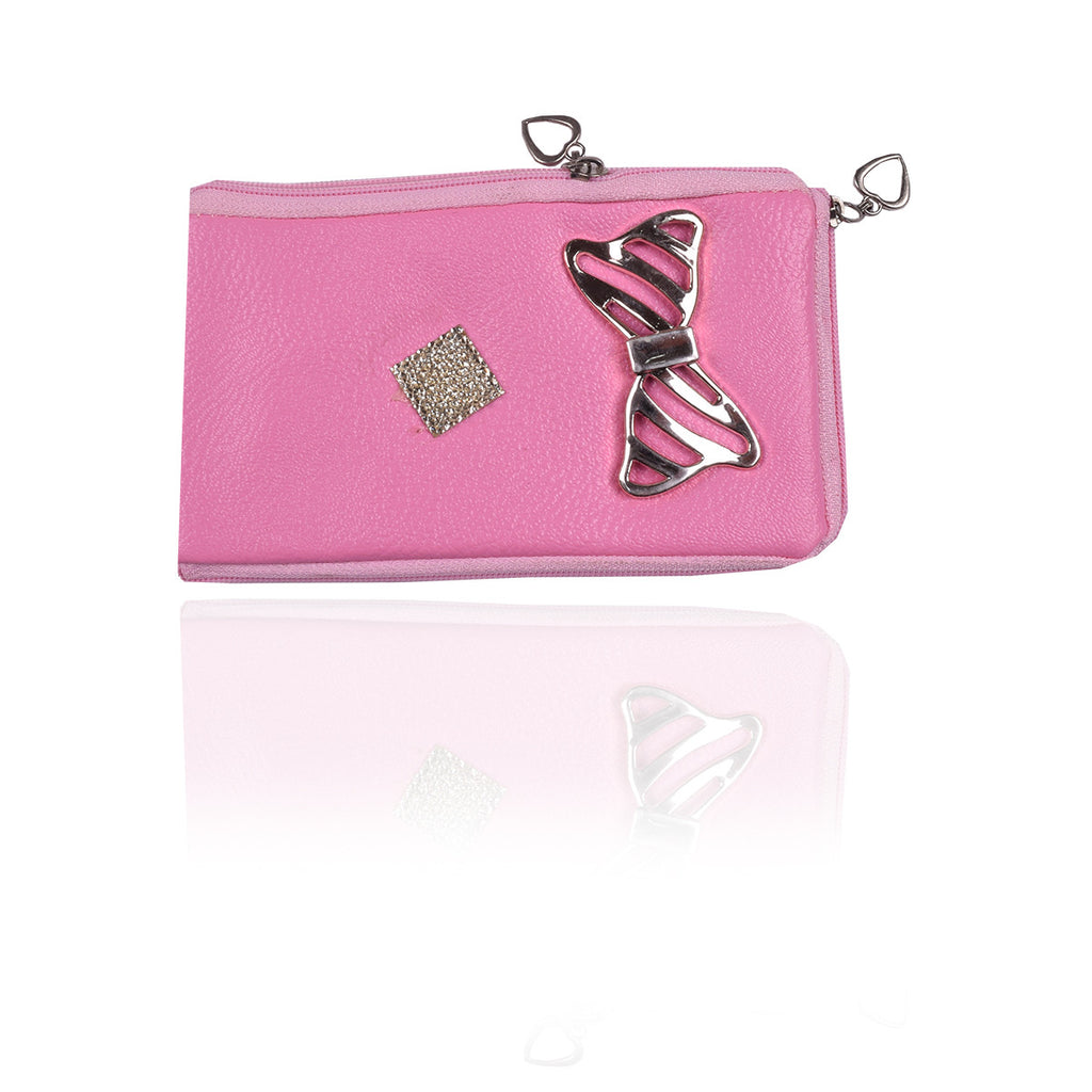 Ladies Wallet & Mobile Pouch-Light Pink-LP07