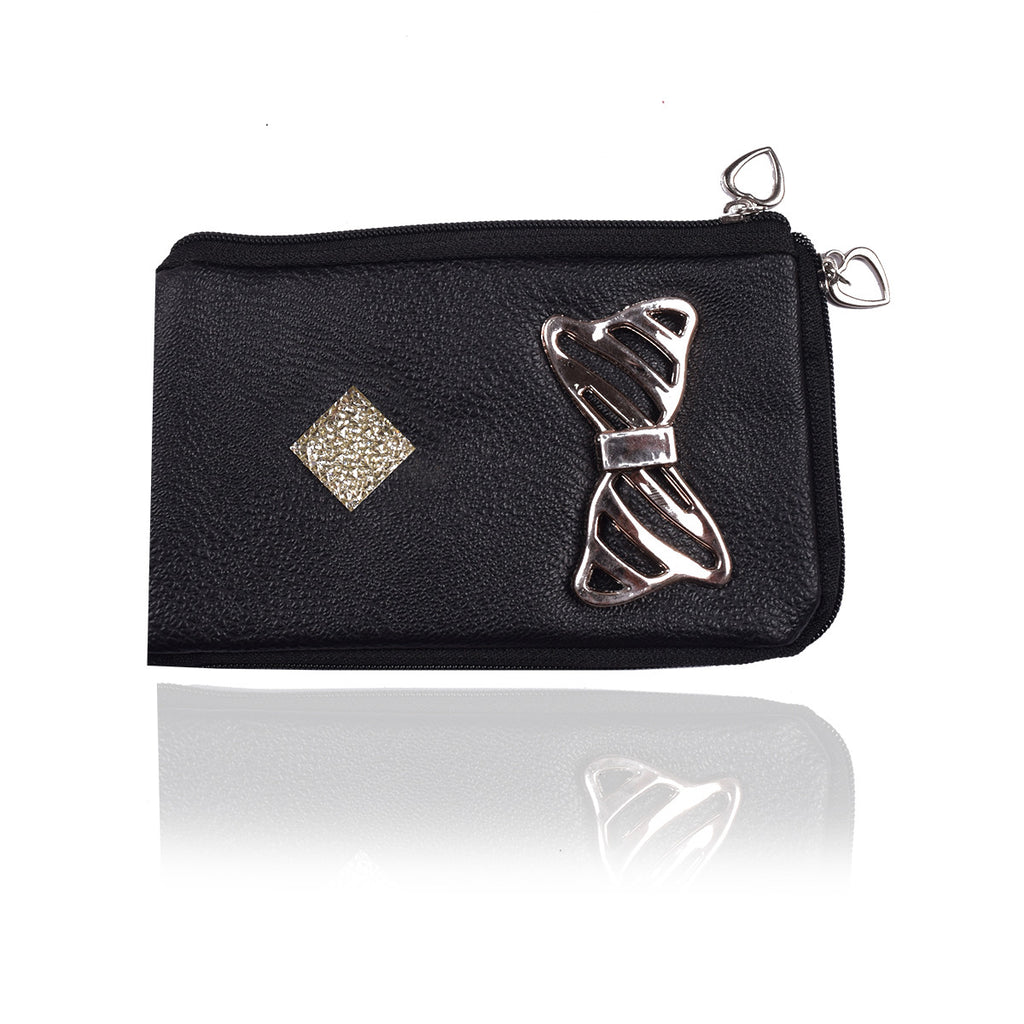 Ladies Wallet & Mobile Pouch-Black-LP06