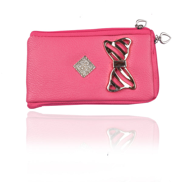 Ladies Wallet & Mobile Pouch-Pink-LP08