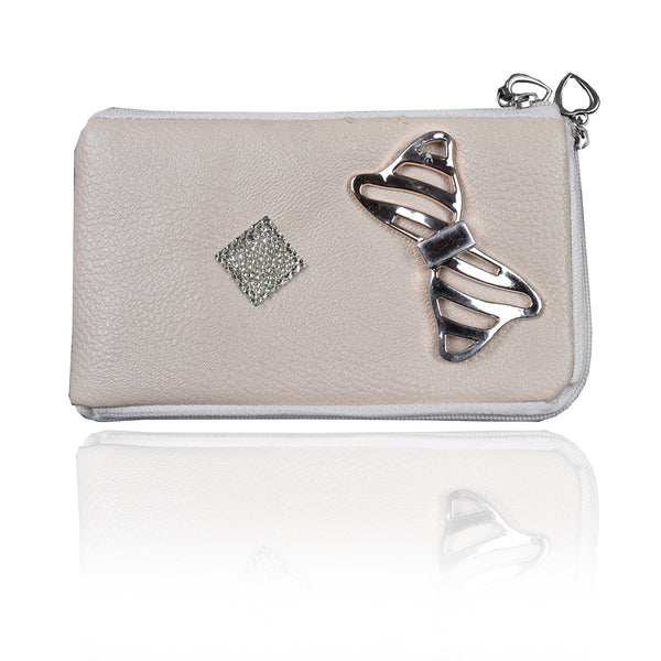 Ladies Wallet & Mobile Pouch-Off White-LP10