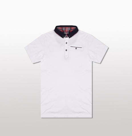 George Polo Shirt For Kid-White-BE2074