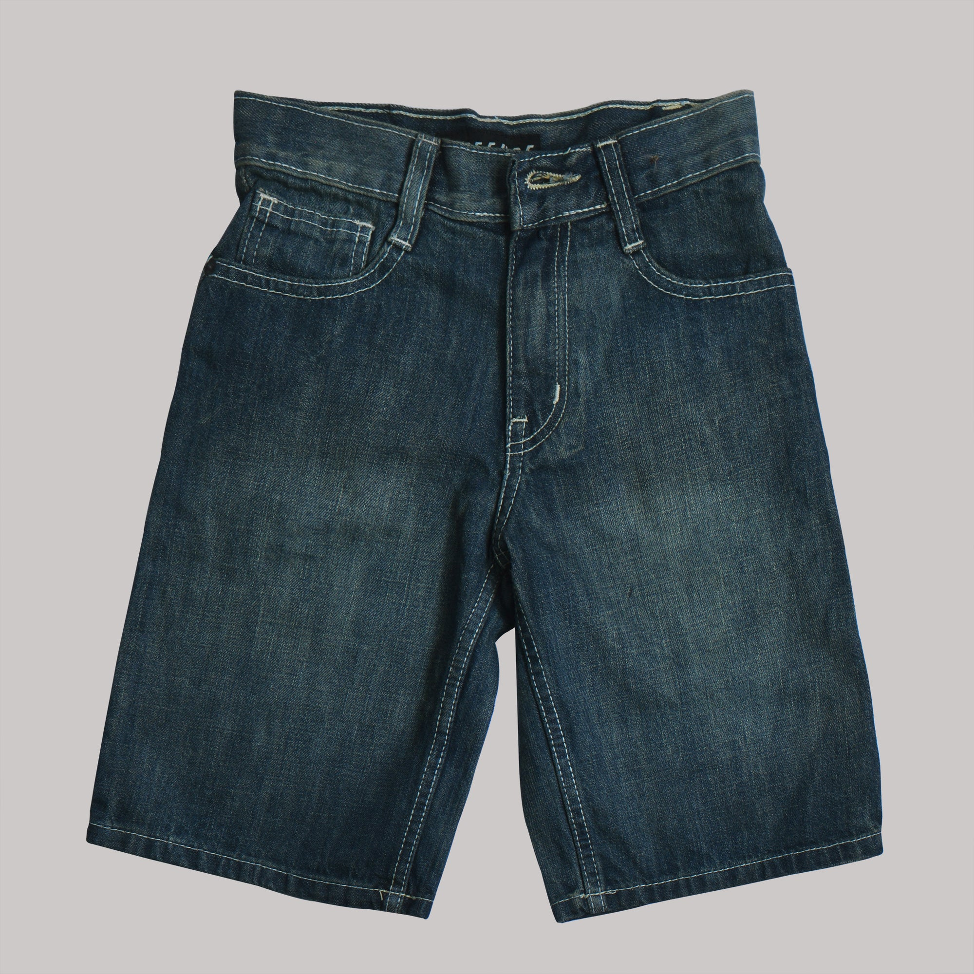 Refuse Denim Short For Kids-Dark Blue-SP537