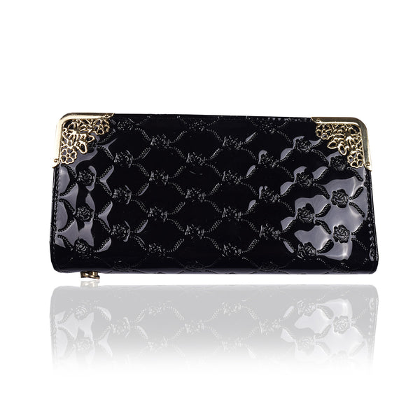 Ladies Stylish Singal Zip Purse-Black-LP27