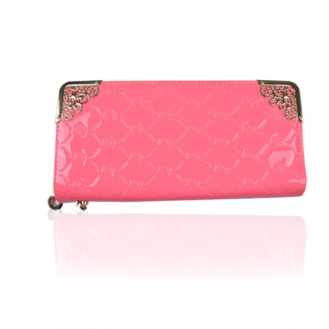 Ladies Stylish Singal Zip Purse-Light Pink-LP18