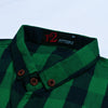 R2 Fitters Premium Slim Fit Casual Shirt For Men-Dark Navy & Green Chek-RCS166
