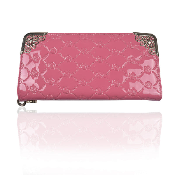 Ladies Stylish Singal Zip Purse-Coral Pink-LP20