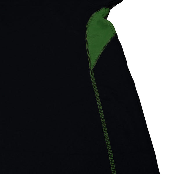 KUKRI Stylish Polo Shirt For Kids- Black & Green -BE1019