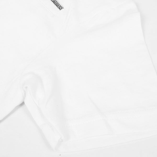 George Polo Shirt For Kid Cut Label-White-PSK01