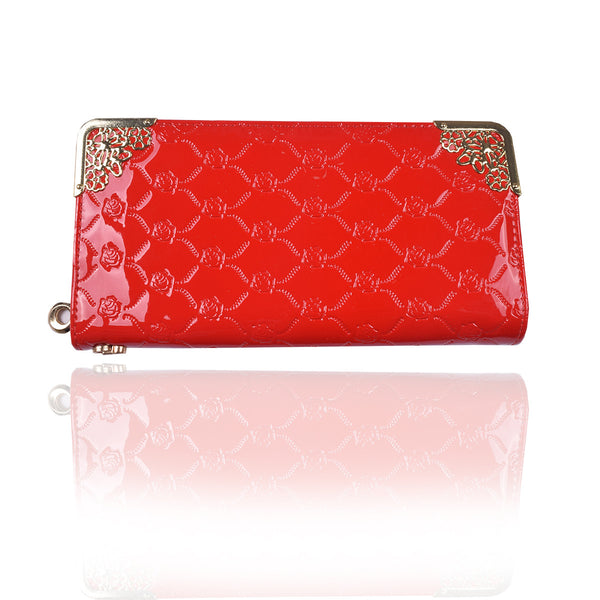 Ladies Stylish Singal Zip Purse-Red-LP28