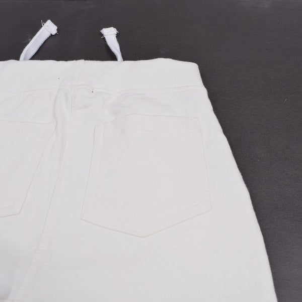 "Kids Cut Label ""NEXT"" Slim Fit Trouser Terry -OFF WHITE -CBG2"