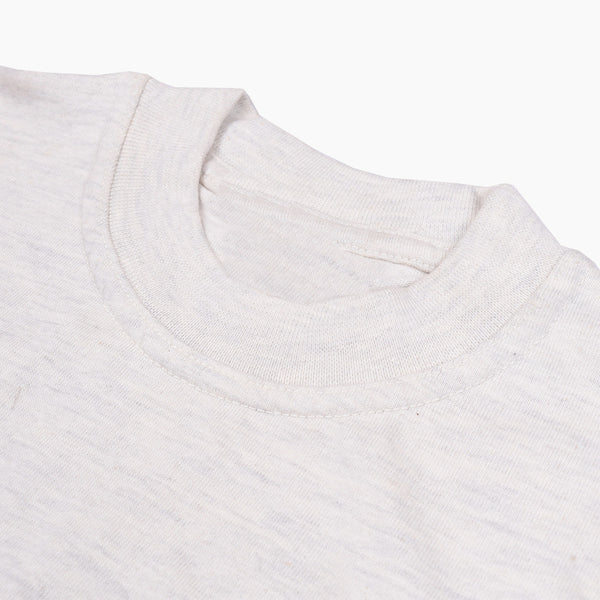 Basic Crew Neck T Shirts For Men -Off White- BE1006