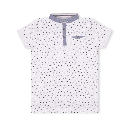 George Polo Shirt For Kid-White-BE2078