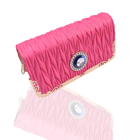 Ladies Stylish Double Zip Purse-Pink-LP31
