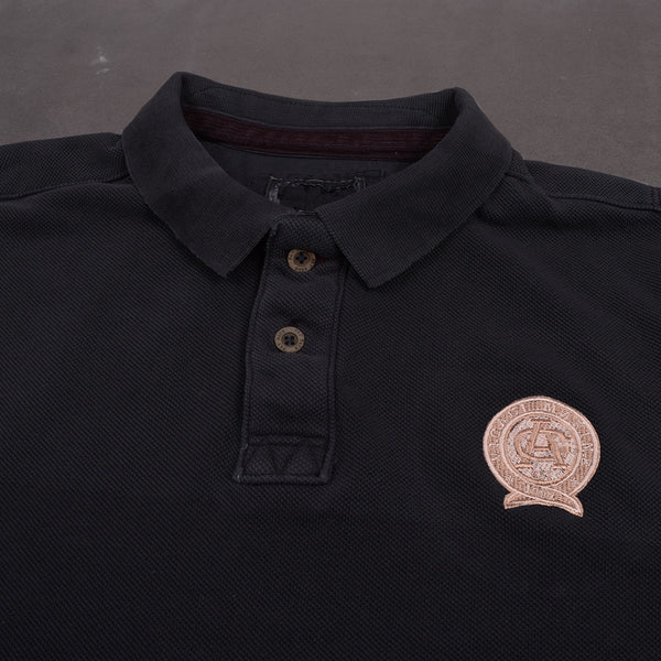 "Men's Cut Label ""Vicaci Marine ""Long Sleeve Polo Shirt -Dark Navy-(NRSPS13)"