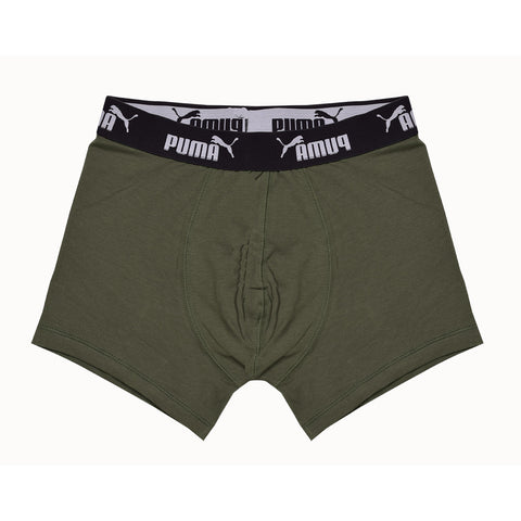 Puma Boxer Short for Men-Camou Flage Green-BE837